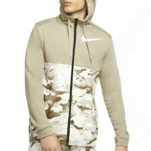 Nike Camo Dri-Fit Full Zip Hoodie Jacket 3XL